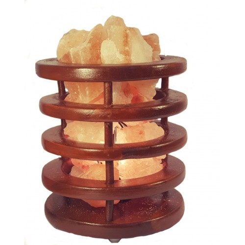 African Wooden Tower Salt Lamp Saltpur - Saltpur Himalayan Salts