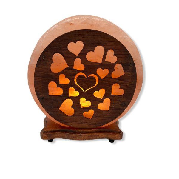Hearts Wood Craft Salt Lamp Saltpur - Saltpur Himalayan Salts