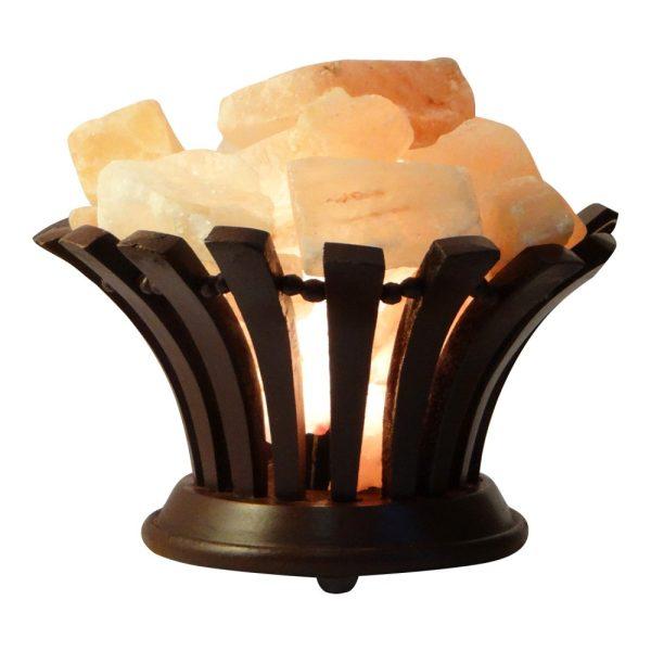 Himalayan Salt Wooden Flower Lamp - Saltpur Himalayan Salts