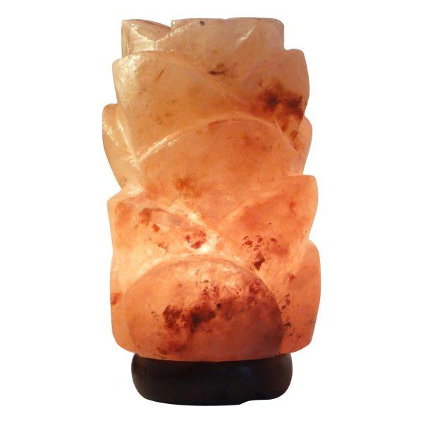 Rose Petal Salt Lamp M - Saltpur Himalayan Salts