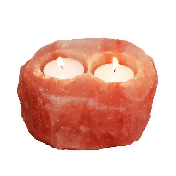 Saltpur Candle Holder 2 Hole - Saltpur Himalayan Salts
