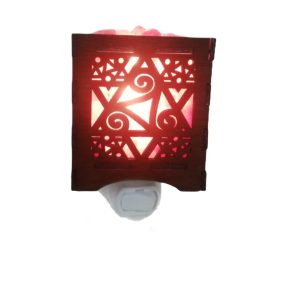 Saltpur Good Wood Nightlight Star Seven - Saltpur Himalayan Salts