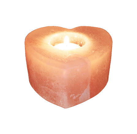 Saltpur Heart Candle Holder - Saltpur Himalayan Salts
