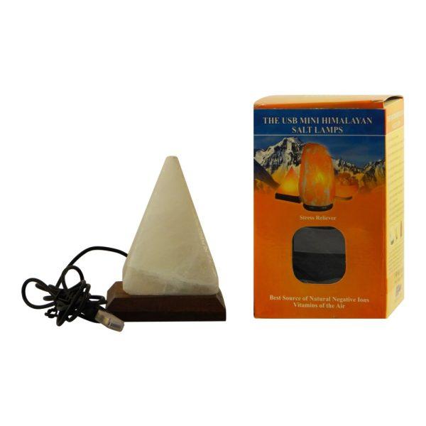 Saltpur USB Pyramid Salt Lamp White - Saltpur Himalayan Salts