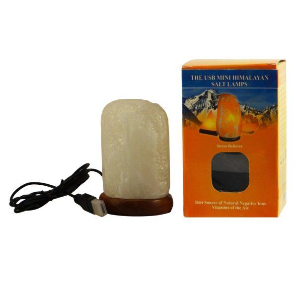 Saltpur USB White Natural Salt Lamp White - Saltpur Himalayan Salts