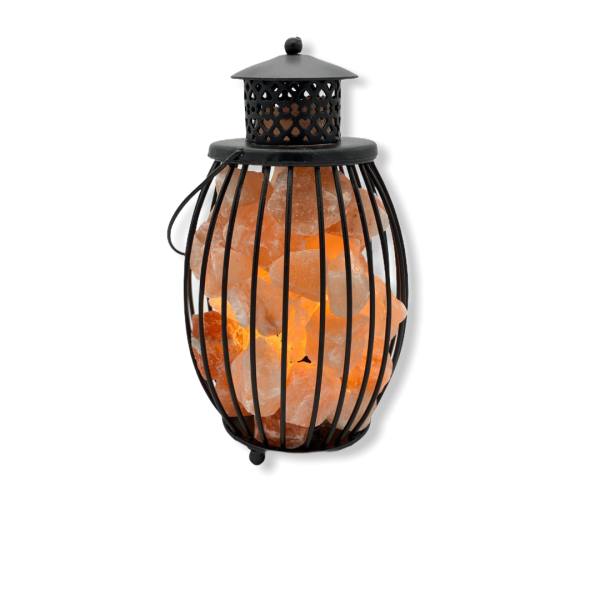 Wrought Iron Salt Lamp Lantern - Saltpur Himalayan Salts