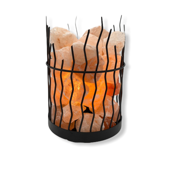 Wrought Iron Salt Lamp Rough Line - Saltpur Himalayan Salts