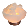 Himalayan Fire Bowl Salt Lamp White - Saltpur Himalayan Salts