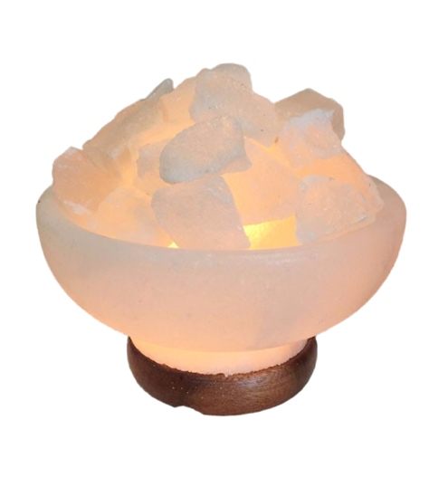 Himalayan Fire Bowl Salt Lamp White - Saltpur Himalayan Salts
