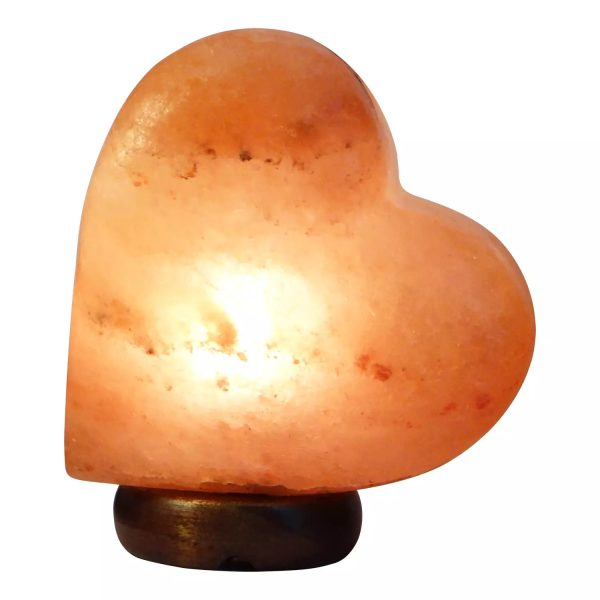 Himalayan Heart Shape Salt Lamp Medium 3 5 Kg - Saltpur Himalayan Salts