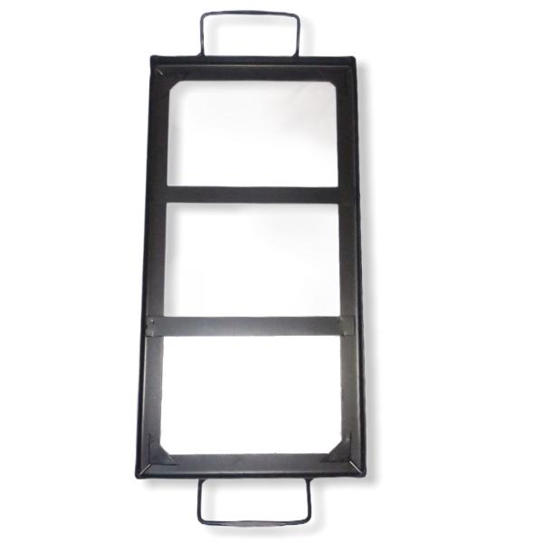 Stainless Steel Himalayan Salt Block Holder 16 x 8 x 2 inch - Saltpur Himalayan Salts