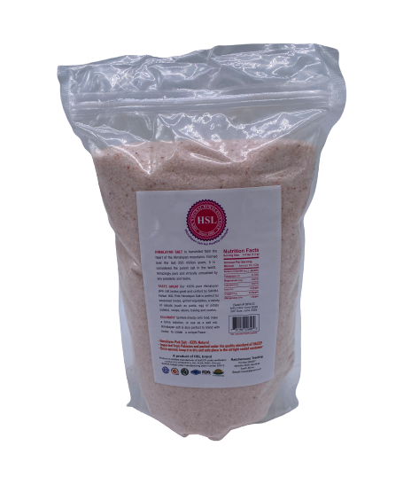 Himalayan Pink Cooking Salt Fine 1 Kg Back - Himalayan Salts