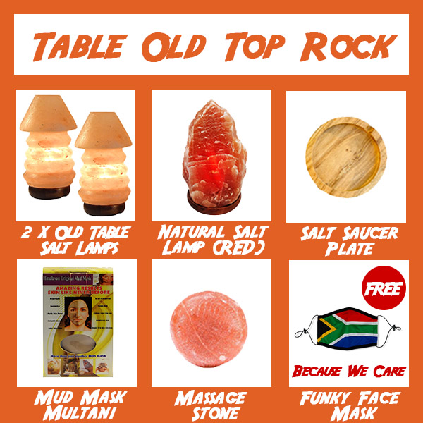 Jumbo Combo Table Old Top Rock - Saltpur Himalayan Salts
