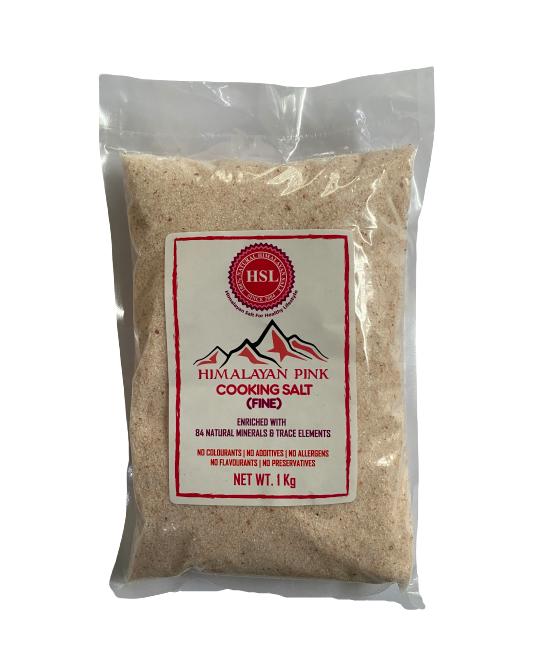 Himalayan Pink Cooking Salt Fine 1 Kg - Saltpur Himalayan Salts